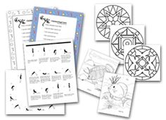 Printable yoga sheets affirmations and coloring pages from
