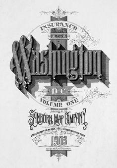 Washington Vintage Typography Design #lettering
