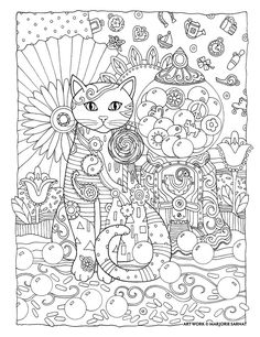 "Creative Haven Creative Cats by Marjorie Sarnat, ""Gumball-ology"""