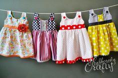 DIY little girl dresses