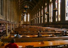 Suzallo Library Graduate Reading Room at the University of Washington, Seattle.  One of the best places in the world.