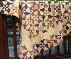 Batik Double Pinwheel - a quilt sold on Etsy