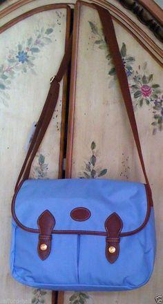 LONGCHAMP Purse Messenger Bag Cornflower Blue Leather Accents New Chic Le Pliage #Longchamp #Satchel