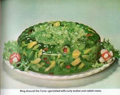 The Vegetable & Tuna Jell-O Wreath | 20 Truly Horrifying Vintage Holiday Recipes