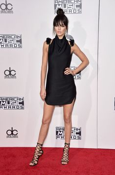 06c0da167502 Kendall Jenner Dress, American Music Awards, Cosmopolitan, Suspenders,  Celebrity Style, Button