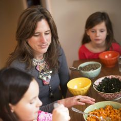 Eat family dinners, as a family. It may seem old fashion but it is a life changing practice.