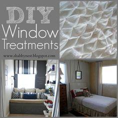 DIY Window treatment round-up!