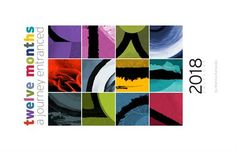 Calendars: 12 Months - A Journey Entranced 2018 / Wall Calendar Month Colors, Gifts For An Artist, Moon Phases, Astrology Signs, 12 Months, Original Artwork, Entrance, Calendar, Journey