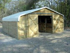 What an greatidea! Purchase an off-the-shelf carport, assemble it, clad it with timber and add a door, and you have an awesome low cost barn… What interests me about this the most though is not necessarily building as large barn as in the photo, but the opportunity to use a smaller carport to build a …