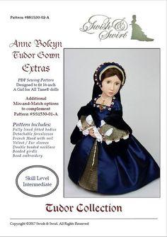 PDF Pattern SS1530-02-A. Anne Boleyn Tudor Gown by SwishAndSwirl