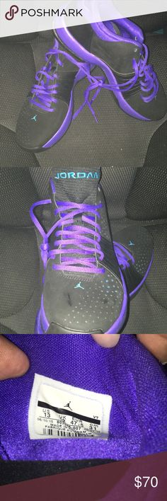 Jordans 5AM Men's Black/Purple/Turquoise Size 13 Only worn once. In great condition. At Foot Locker, Finish Line, Champs, or EastBay online these sneakers are normally sold at $100.00. Jordan Shoes Athletic Shoes