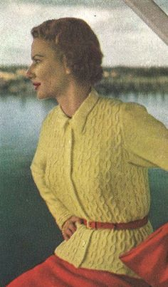 This vintage 1940s womans cardigan sweater knitting pattern is from Vogue Knitting Spring/Summer 1948 magazine.  ★  This pattern is designed for the following sizes:  • bust 34 • bust 38  ★  Gauge: 28 st = 4 in light fingering weight (3 ply) yarn  ★  This pattern is a digital download and is delivered to you immediately upon receipt of payment.  ★  Sale!  Two patterns for $7 with code: 2FOR7 Three patterns for $9 with code: 3FOR9 Five patterns for $13 with code: 5FOR13