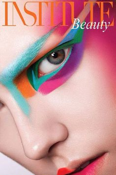 Colors Of Beauty - Photographed by Thomas Knieps Institute Magazine. #Artistic #Makeup