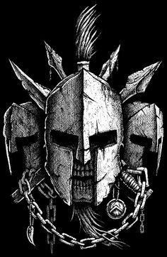 Spartan helmet drawing for a t-shirt. Spartan Helmet Tattoo, Warrior Helmet, Spartan Warrior, Gladiator Tattoo, Skull Tattoos, Body Art Tattoos, Sleeve Tattoos, Warrior Tattoos, Viking Tattoos