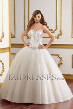 Ball Gown Strapless Sweetheart Organza Wedding Dress - IZIDRESSES.COM at IZIDRESS.co.uk