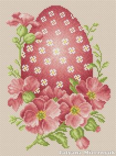Cross stitch pattern Easter egg