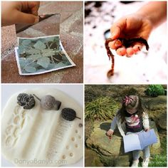Awesome ideas for outdoor learning Forest School Activities, Sensory Activities Toddlers, Outside Activities, Nature Activities, Summer Activities For Kids, Outdoor Fun For Kids, Outdoor Play, Scavenger Hunt For Kids, Road Trip With Kids