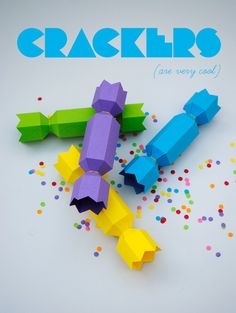 Use colored paper to make these cracklers.