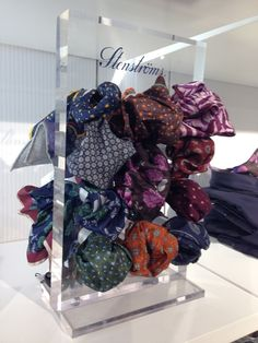Pocket Square display in Stockholm, Sweden., Pocket Square display in Stockholm, Sweden. Pocket Square Styles, Essential Oil Set, Tie Shop, Suit Accessories, Modern Man, 4th Of July Wreath, Pocket Squares, Mens Fashion, Men Styles
