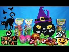Halloween 2015 Trick or Treat Blind Bags Surprise Toys PEZ Toys and Chocolates | Kids Play O'Clock - YouTube