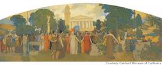 A mural for the California State Supreme Court, painted by Arthur Mathew. Photo courtesy of the Oakland Museum of California
