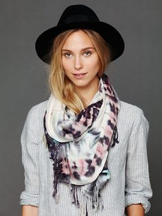Tie Dye Scarf at Free People Clothing Boutique