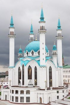 From Russia with Locs, efdol: Kul Sharif Masjid , Russia Mosque Architecture, Art And Architecture, Beautiful Architecture, Beautiful Buildings, Beautiful Mosques, Beautiful Places, Mekka, Islamic Wallpaper, Cathedral Church