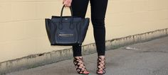 Prabal Gurung for Target cage heels and a Celine mini luggage tote
