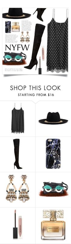 """NYFW: Dots Slip Dress"" by sonny-m ❤ liked on Polyvore featuring Venna, Kendall + Kylie, Anton Heunis, Fendi, Burberry, Givenchy and NYFW"