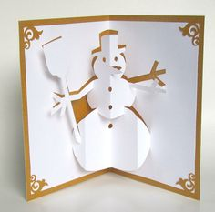 Snowman and christmas tree pop up card kirigami tutorial youtube snowman 3d pop up greeting card home dcor handmade by boldfolds m4hsunfo