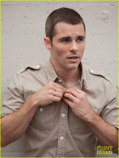 James Marsden. With his head shaved. I could get used to it. :)