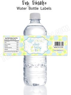 Airplane Baby Boy Sprinkle - Personalized Baby Shower Water Bottle Labels - DIY Party Printables - Digital Download and Print. $8.00, via Etsy.
