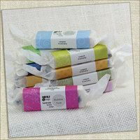 Wrapped in colored environmentally friendly paper