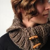 Chunky Ribbed Cowl  - via @Craftsy free!