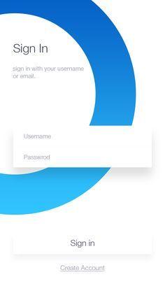 Different sign in design Interaktives Design, Login Design, Gui Interface, User Interface Design, App Login, Login Form, Android Design, App Design Inspiration, Mobile Ui Design