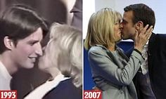 Working together late at night after school, 16-year-old Emmanuel Macron and 39-year-old Brigitte Auziere first felt the embers of love emerge between them. Now, almost 24 years later, they're still together.