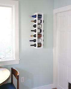 DIY kitchen wine rack