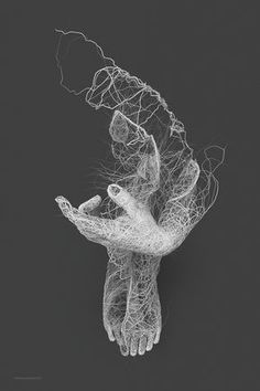 Over the last year, Polish designer and illustrator Janusz Jurek has been exploring different forms of generative illustration as it relates to the human form. Some of my favorites are collected into a series title Papilarnie where bundled lines that look like lightning or roadways on maps converge