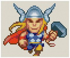 Thor pattern by PDFcrossstitch