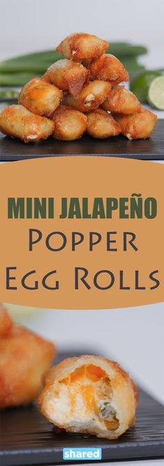 Who doesn't love a jalapeno popper? Who doesn't love an egg roll? Why has no one ever thought to combine the two until now?! These amazing little bite sized treats combine your favorite appetizers into Mini Jalapeno Popper Egg Rolls and you will wonder why you haven't been eating these forever. They are super quick to make and you are going to love them!