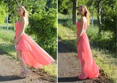 high low pink prom dress#meinropa#