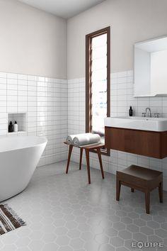 Scale Grey 11,6x10,1. #minimal, #minimalist, #modern forms, #monochromatic, #shape, #trend, #vanguard, #wall & floor tiles, #wall tile, #basic colour, #bathroom floor, #contemporary, #design, #bathroom wall tile, #hexagon tile, #hexagon, #geometric, #geometry, #contemporary design, #equipe, #equipe cerámicas