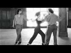Libertango, loved this movie Tango Lessons  Wonderous choreography - watch them all dance with her at once at the end.  I can watch this scene over and over.  I stop breathing in fact.  Music by YoYoMa