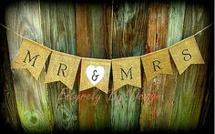 Mr Mrs Wedding Burlap Banner Garland Rustic Country Western Handmade | eBay