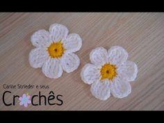 Flor em Croche Para aplique Simples e Facil - YouTube