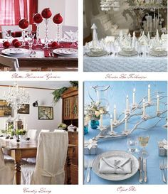 Use shades of blue and shimmering silver in combination with your finest China when you set a formal dinner table, and you will be sure to impress. For a casual, but no less cheerful Christmas dinner table, play to your inner child, using brightly colored decor.  eHow.com