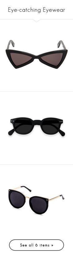 """Eye-catching Eyewear"" by savantartist ❤ liked on Polyvore featuring sunglasses, accessories, eyewear, black, yves saint laurent eyewear, lens glasses, yves saint laurent sunglasses, acetate sunglasses, yves saint laurent glasses and glasses"