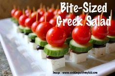 Bite-Sized Greek Salad | Recipe Devil
