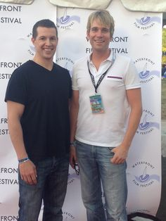 WFF Co-Founder Hopwood DePree and guest on the red carpet at the Opening Night Party.