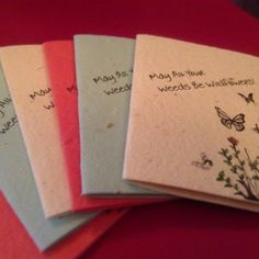 Wildflower Seeded Handmade Paper Card Plant Me by Pulpa on Etsy
